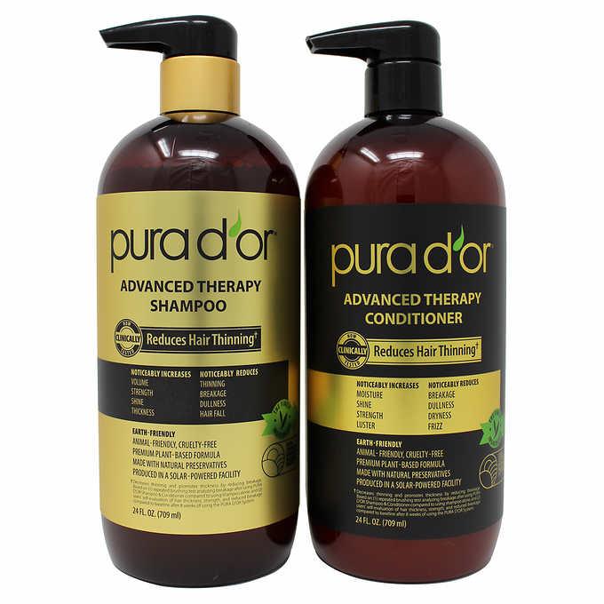 PURA D'OR Advanced Therapy System Shampoo & Conditioner Bundle (2x24oz) , FS, Costco, $29.99