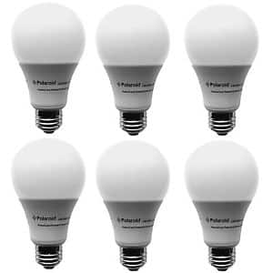 Ebay Daily Deal - Polaroid Dimmable 100 Watt Equivalent 20W A21 LED Bulb  1600 Lumens 5000K Daylight (6 Pack) PLOA21-100.1600.20.2D - $29.99 free shipping