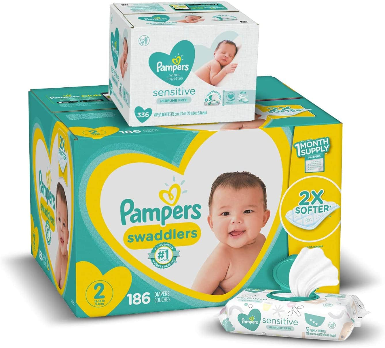 25% OFF ONE Select Pampers Swaddlers Diapers + Wipes Virtual Bundles (Stacked with 20% Diaper Discount) $32.45