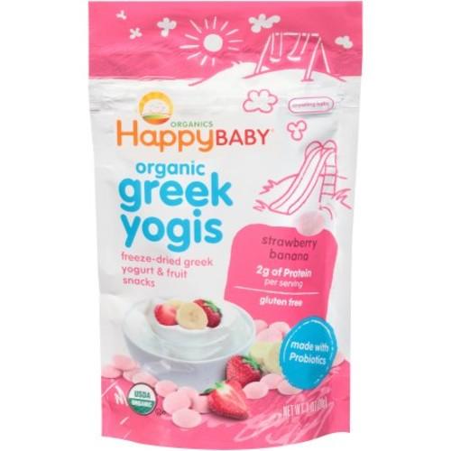 Add-on Item: Happy Baby Happy Yogis Strawberry and Banana Organic Yogurt Snacks - 1 Ounce Pouch $2.29