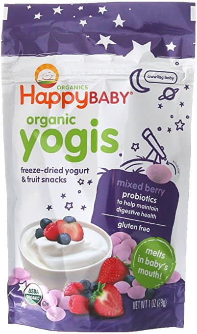 Subscribe and Save, Amazon Family: Happy Baby Freeze-Dried Yogurt & Fruit Snacks, Mixed Berry, 1 Ounce (Pack of 8) $16.82