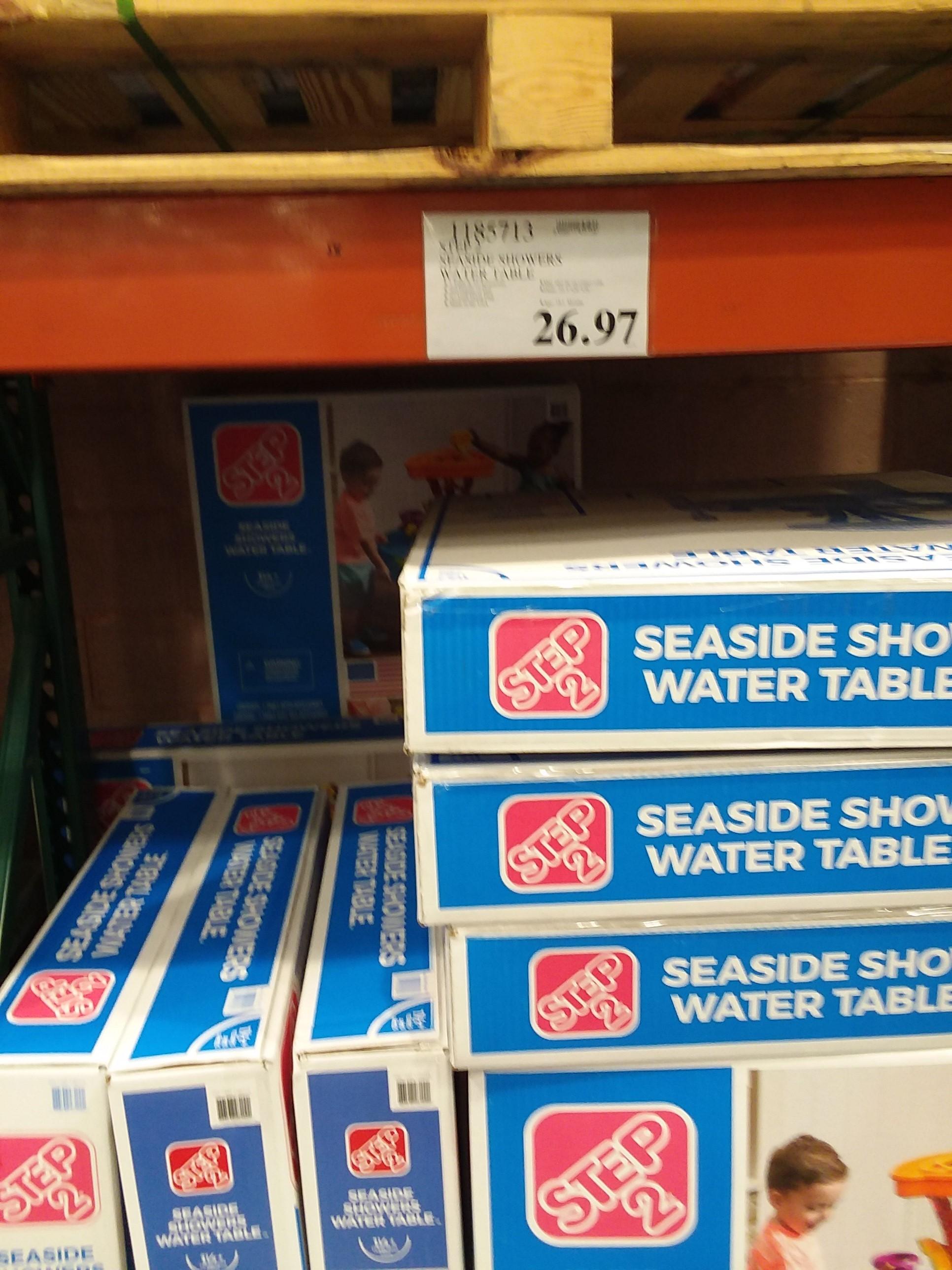 YMMV In-store Costco Seaside showers water table $26.93