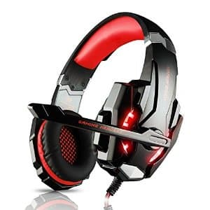DIZA100 Kotion G9000 Gaming Headset with Mic LED Light (Red & Blue) for $17.99 AC + Free Shipping @Amazon