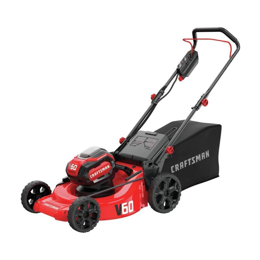 CRAFTSMAN V60 60-Volt Max Lithium Ion Push 21-in Cordless Electric Lawn Mower - $160 - YMMV