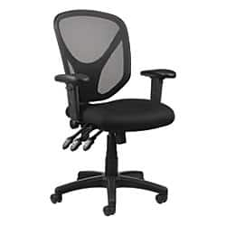 Popular Realspace MFTC Multifunction Ergonomic Super Task Chair Black Item Office Depot Office