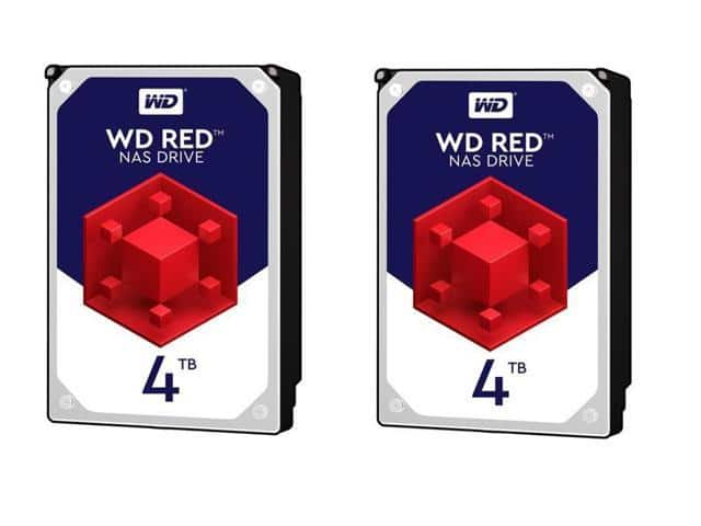 2 x WD Red 4TB NAS HDD - WD40EFRX - $208 @ Newegg after $25 off w. MP checkout