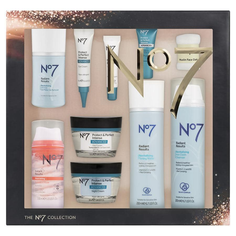 No7 Collection Skincare Beauty 10 Item Gift Box $132 value for $30 at Walgreens Bu0026M. Day night and eye creams serum more & No7 Collection Skincare Beauty 10 Item Gift Box $132 value for $30 ...