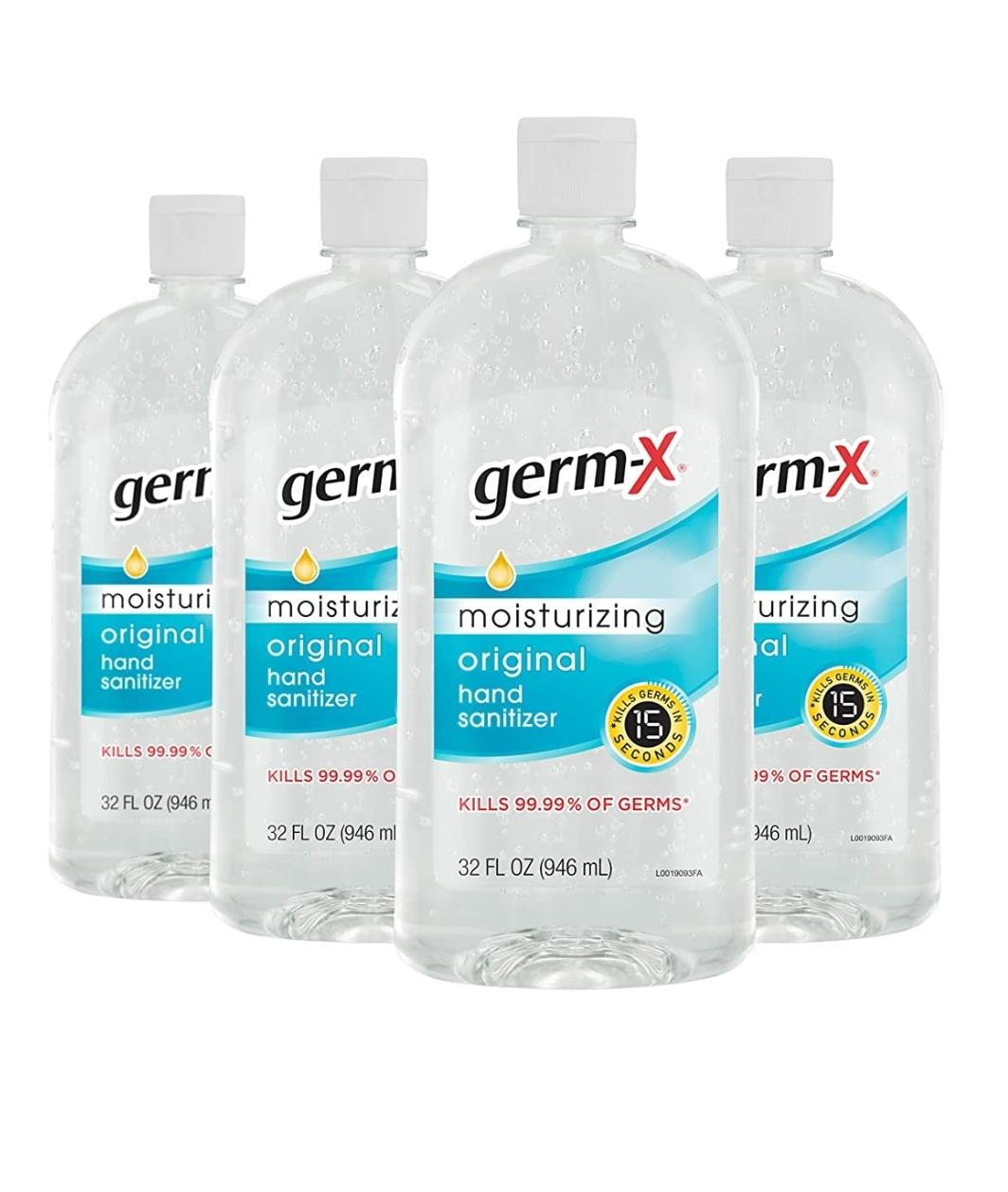 Germ-X Hand Sanitizer, Original, 32 Fluid Ounce (Pack of 4), 128 Fl Ounce $17.99