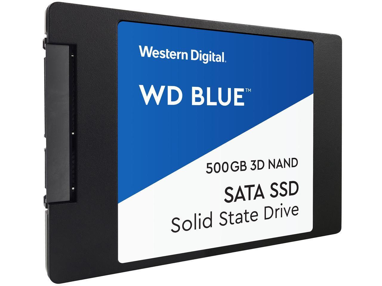 """WD Blue 3D NAND 500GB Internal SSD - SATA III 6Gb/s 2.5"""" SSD - 58.99 AC $58.99"""
