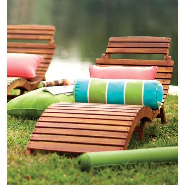 Tifany Wood Outdoor Chaise Lounge $88.99 + fs