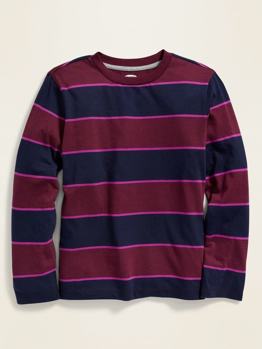Softest Bold-Stripe Long-Sleeve Tee for Boys $7