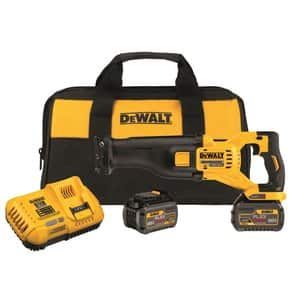 Dewalt 60v flexvolt reciprocating saw + two 60v batteries + free 20v brushless xr hammer drill - $379