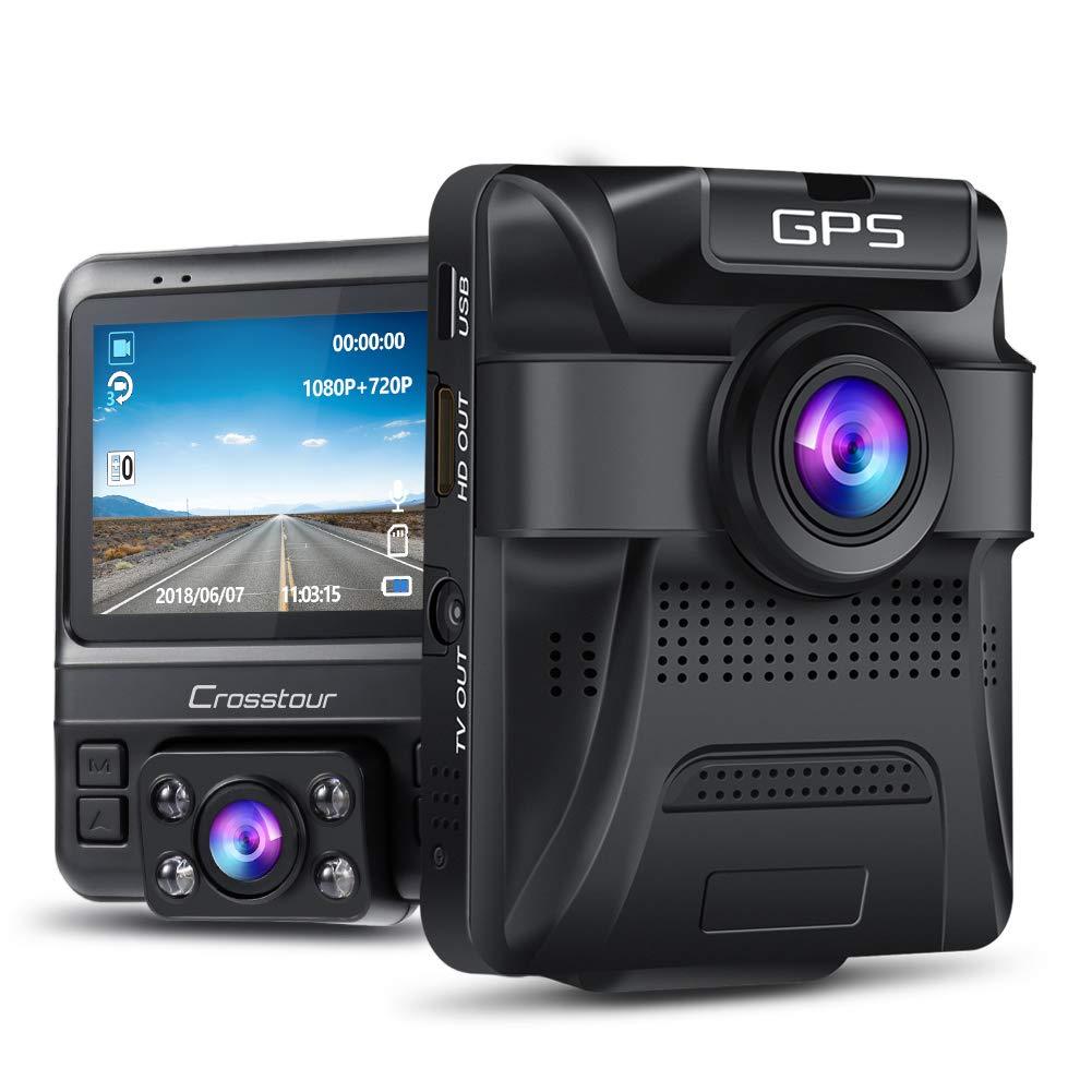 Crosstour dual lens camera dash cam with GPS $56.09 at Amazon - Lightning deal