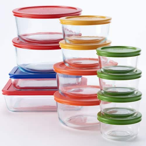 Kohl's Cardholders: Pyrex 24-pc. Storage Set with Color Lids - $27.99