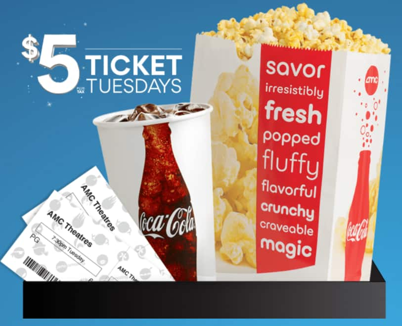 AMC Theatres offering $5 movie tickets for every Tuesday in October for Stubs members