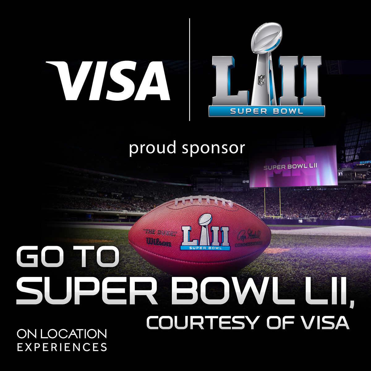 Superbowl LII Package - 4,999 + 2500 cash back - Visa Only $4999