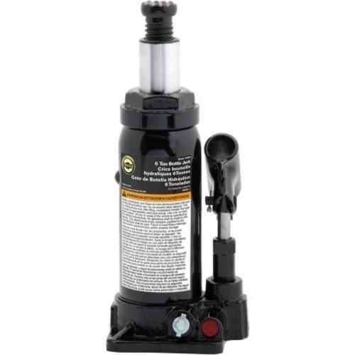 Omega 10065B Black Hydraulic Bottle Jack - 6 Ton Capacity $26.38