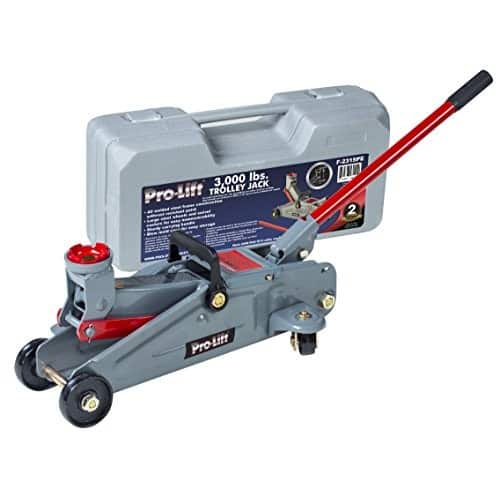 Pro-Lift Hydraulic Trolley Jack Car Lift with Blow Molded Case (3000 lbs Capacity) $31.99