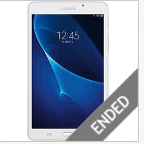 """Open-Box Excellent: Samsung - Galaxy Tab A 7"""" 8GB - White $64"""