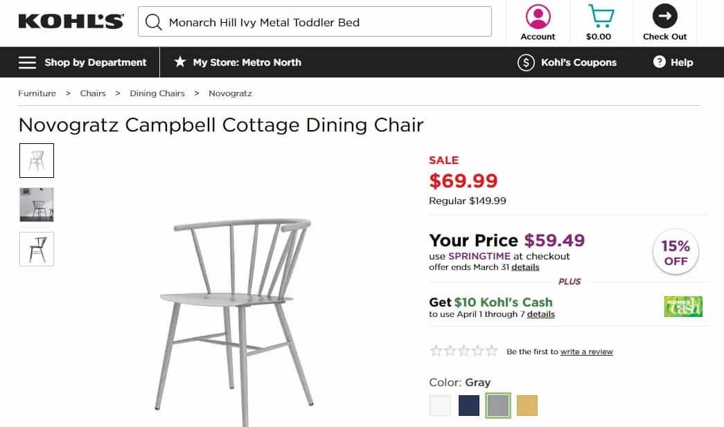 Furniture Lower Than Amazon Kohl S Home Sale Promo Code And Get
