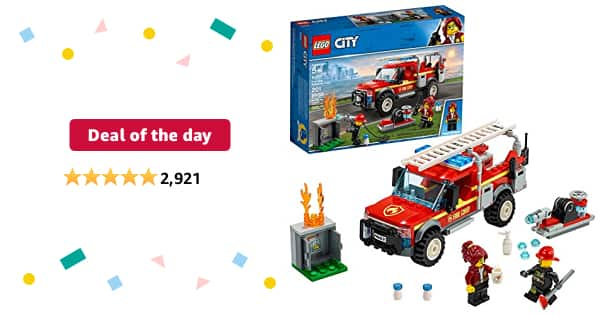 Deal of the day for Prime Members: LEGO City Fire Chief Response Truck 60231 Building Kit (201 Pieces) - $17.99