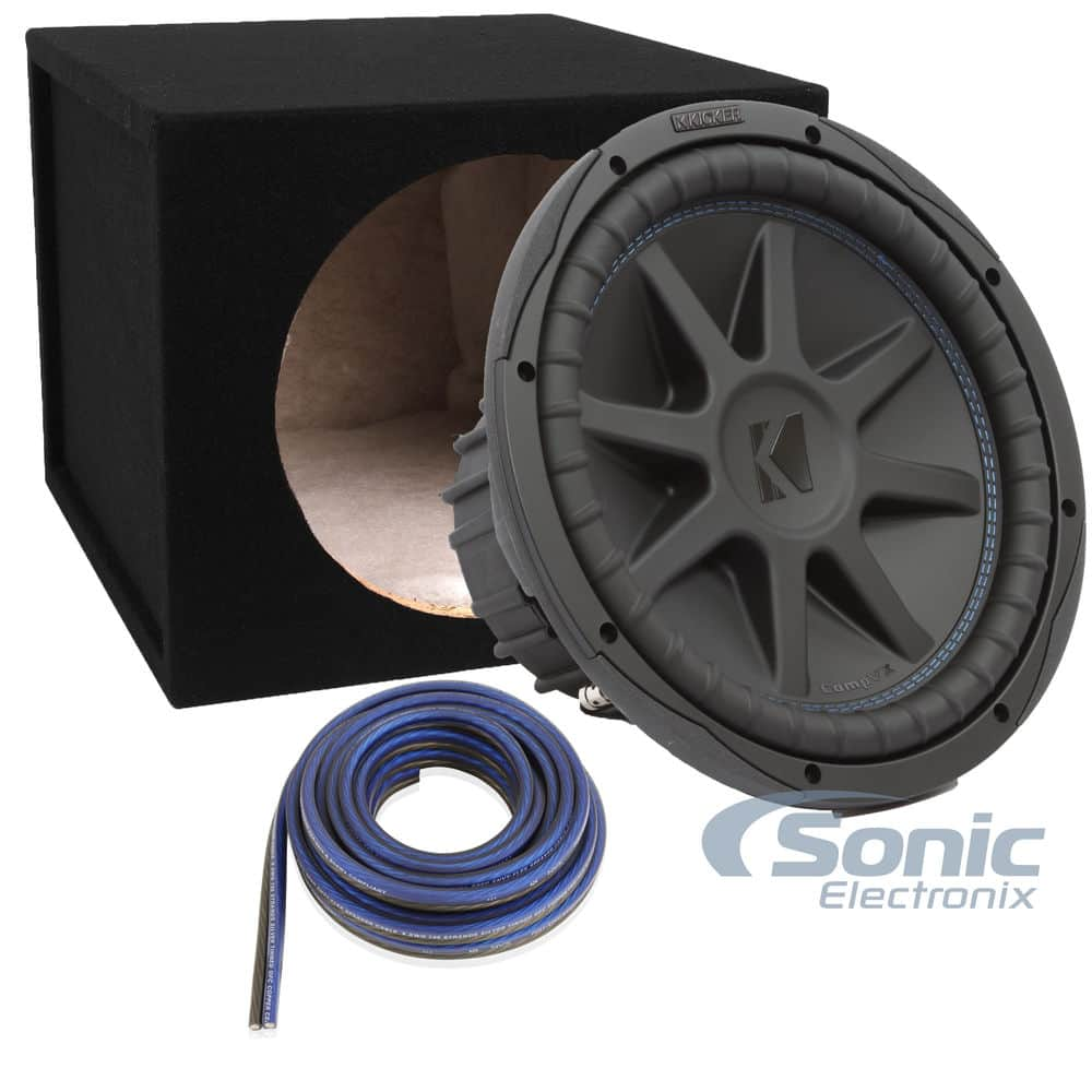 "Kicker CompVX 12"" Subwoofer + Enclosure $223"