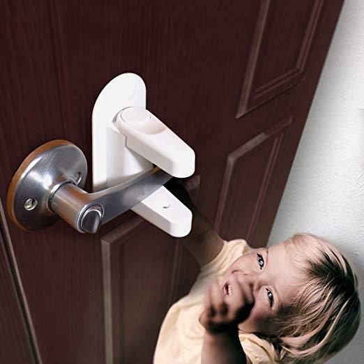 2 Pack Door Lever Locks Child Safety Proof Doors Handles 3m
