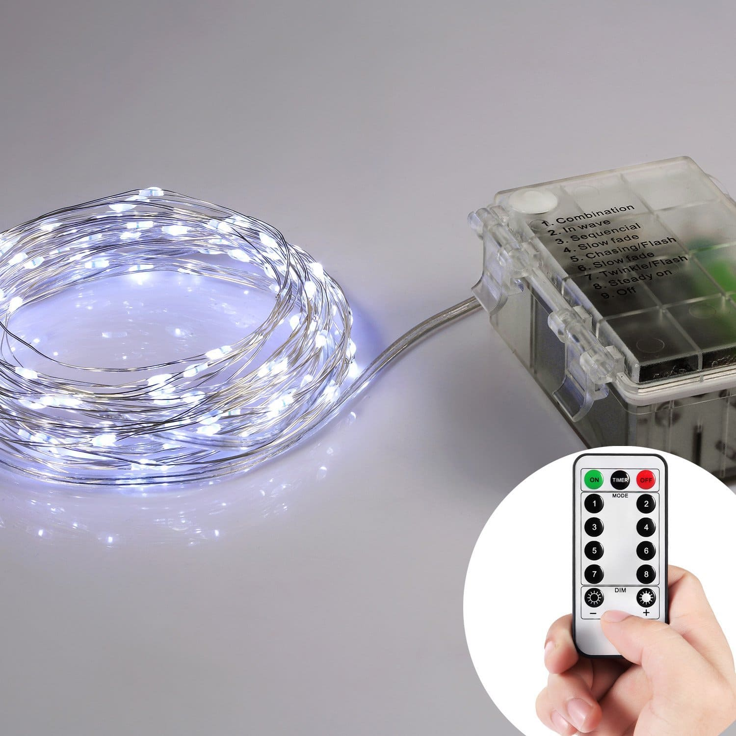 Homestarry Battery Operated Micro LED String Lights, 33 Feet with Wireless Remote for $14.95 + Free Shipping w/Prime
