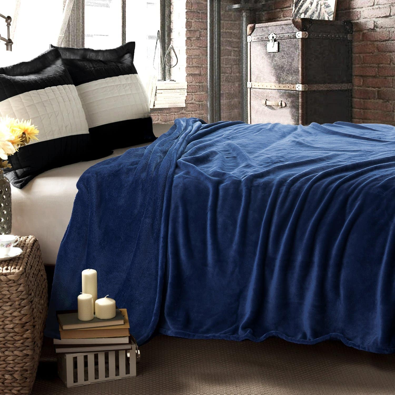"Bedsure Microfiber Blanket (Full/Queen) 90""x90"" - $15.99 AC + FSSS"