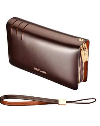 Teemzone: Genuine Leather Business Clutch -$15 + Free Shipping w/ Prime @ Amazon
