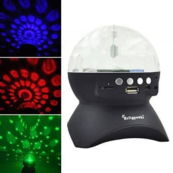 Erligpowht: Stage Lights, Rotating Magic Effect Disco Ball Light With Wireless Bluetooth Speaker - $8.99 @ Free Shipping w/ Prime @ Amazon