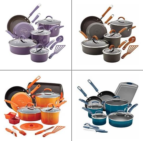 Rachael Ray 14 piece Cookware Set  $76 + $10 Giftcard + Free Shipping