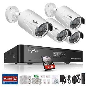 Sannce 4CH 960P sPoE NVR Security Camera System - $190 + FSSS