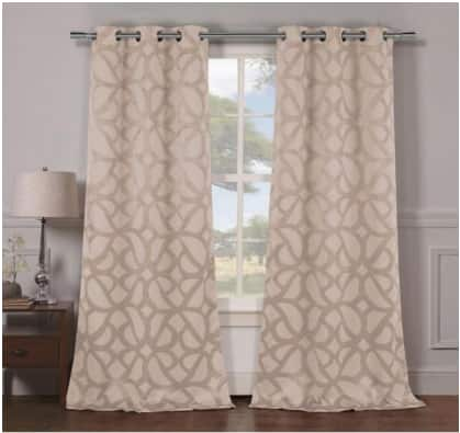 (Set of 2) Heavy Woven Triple Layered Blackout Panel Pairs - Multiple Styles $20 + Free Shipping