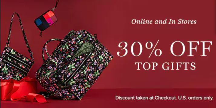 Vera Bradley: 30% Off Top Gifts
