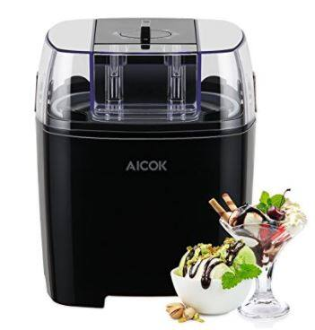 Amazon: Aicok 1.5 Quart Ice Cream Maker Machine $19.99