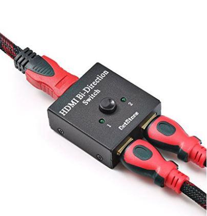 Amazon: HDMI Switcher 2 Ports Bi-direction Manual Switch 2 x 1 $8.39