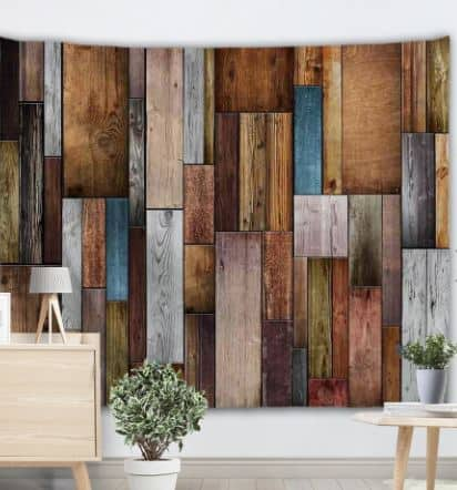 Dresslily.com: Brick Printed, Vintage Wood Textured Wall Tapestries $12.99