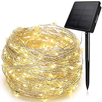 Amazon: 72ft 200 LED 3 Strand Copper Wire Solar String Lights $8 + FS