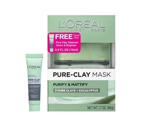 Amazon: L'Oreal Paris Skin Care Pure-Clay Mask and Cleanser, 1.7 Ounce $8