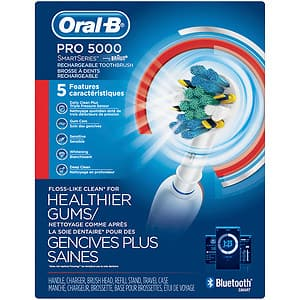 Amazon Oral-B Pro 5000 SmartSeries Power Rechargeable Electric Toothbrush $55