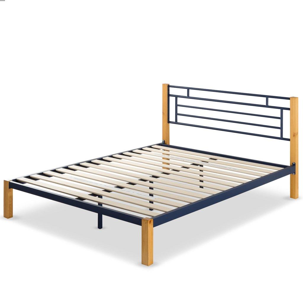 Zinus Taylan Metal And Wood Platform Bed Full 143 Queen
