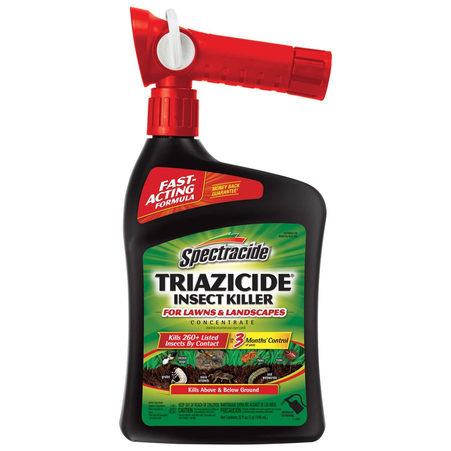 Spectracide Triazicide Insect Killer For Lawns & Landscapes Concentrate, Ready-to-Spray, 32-Ounce [Pack of 1] $4