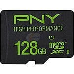128GB PNY MicroSD Memory Card (up to 60MB/s)  $50 + Free Shipping
