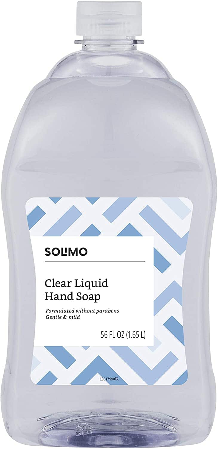 Amazon Brand - Solimo Gentle & Mild Clear Liquid Hand Soap Refill, Triclosan-free, 56 Fluid Ounce $5.95 In stock on 6/11/20