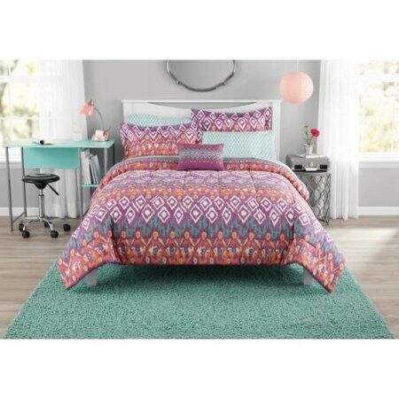 Mainstays Pink Tribal 6-Piece Comforter Set $17.52 (Queen) , $14.97 (Full) + Free Pickup at store