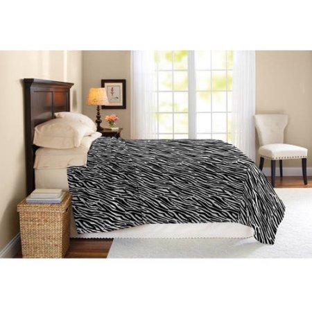 Better Homes and Gardens Blanket, Queen/Full (Zebra) $9.66 + Free Store Pickup