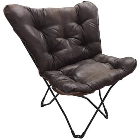 Mainstays Soft Faux-Leather Butterfly Chair $10 In-store