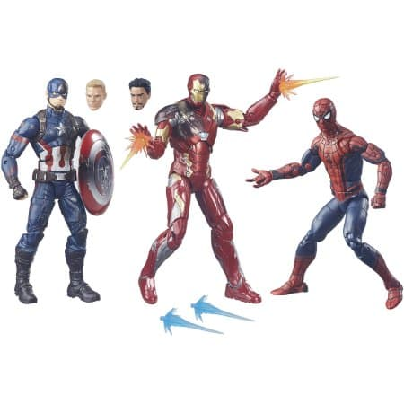 Marvel Legends 3-Pack: Spider-Man, Captain America, and Iron Man $14.31 + Free Store Pickup