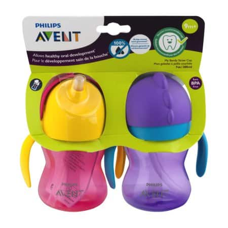 2 CT - Philips Avent My Bendy Straw Cups $5.48 + Free store pickup